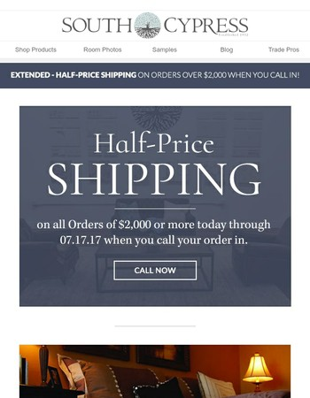 EXTENDED: Half-Price Shipping!