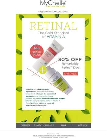 Wake up to Remarkable Skin: 30% off our Remarkable Retinal™ Duo
