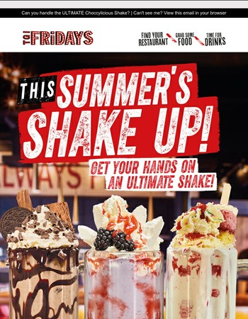 Shake it up this Summer with our trio of ULTIMATE Shakes!