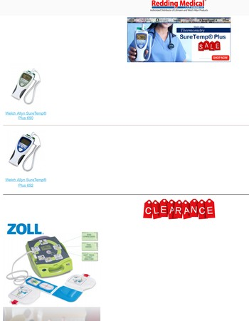 SureTemp Thermometer and a clearance AED, Get them before they are gone!