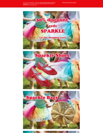 Our very own Sparkle Day - 30% discount off everything for 30 hours