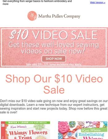 Our Video Sale Continues! Shop Now