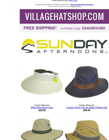 Perfect Sunday Afternoons Hats for Summer + FREE Shipping!
