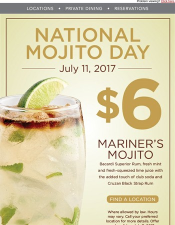 Celebrate National Mojito Day With Us!