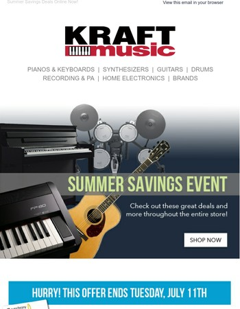 Summer Savings Event Going On Now!