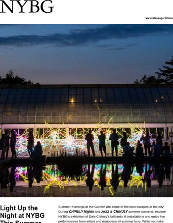 Light Up the Night at NYBG This Summer