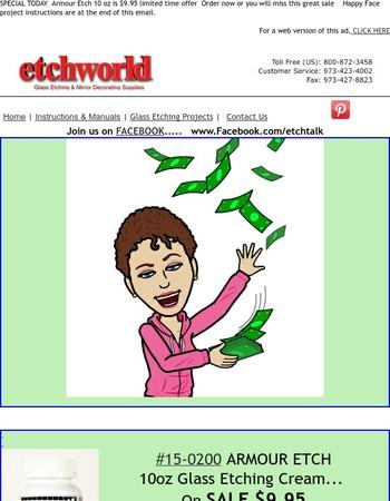 Etchworld.com --Save BIG on ARMOUR ETCH 10 oz