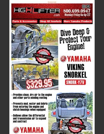 HL New Product Alert - Yamaha Snorkels