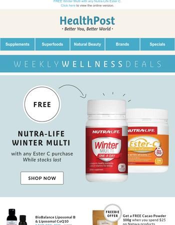 Your Weekly Wellness Deals: Nutra-Life, BioBalance, Natava, Weleda & more!