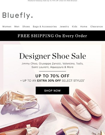 Drop Everything: DESIGNER SHOE SALE Up To 70% Off + Up To An Extra 30% Off Select Styles