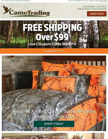 Orange and Camo Bedding? Start here
