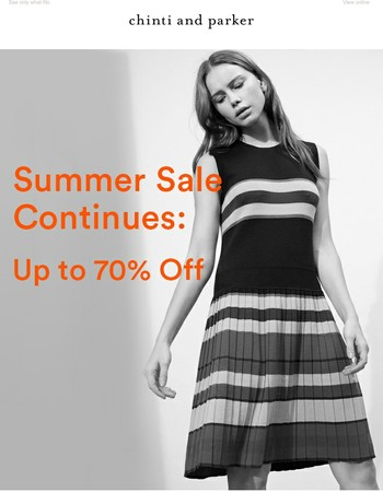 Sale at Up to 70% Off   Shop by Size