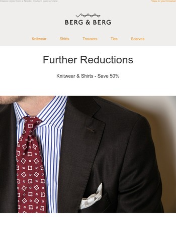 Further Reductions - Knitwear & Shirts - Save 50%