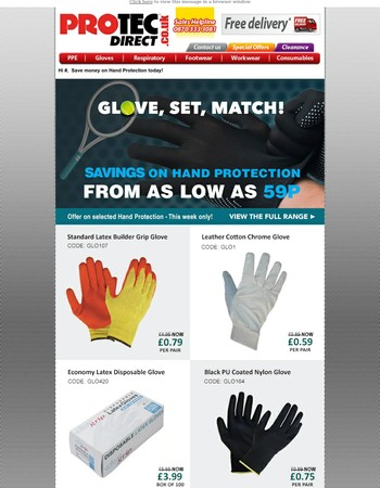 Glove, set, match! - Buy gloves from as low as 59p...