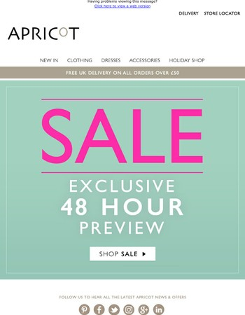 SALE... exclusive 48 hour online preview