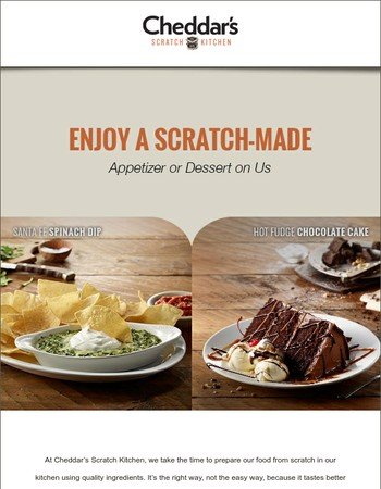 FREE Appetizer or Dessert to Celebrate Summer