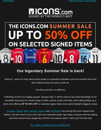 ☀Up to 50% OFF!☀The Icons Summer Sale is LIVE!