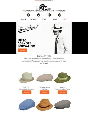 Borsalino Sale | Up to 50% Off