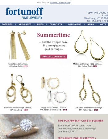 Summer style gold earrings, plus free shipping everyday
