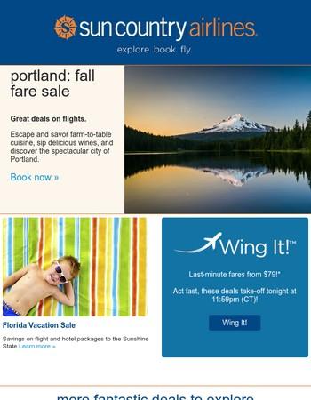 Days left: Portland deals + Florida on sale NOW