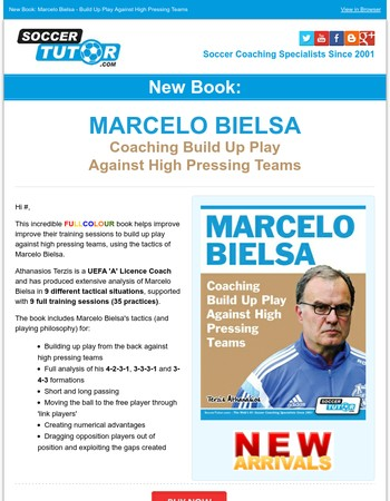 New Book: Marcelo Bielsa - Coaching Build Up Play Against High Pressing Teams