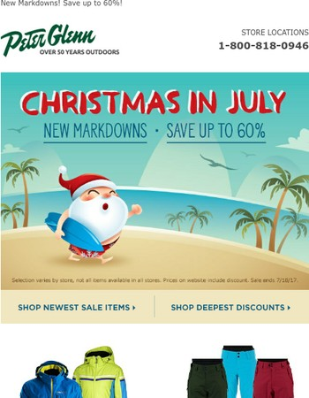 Biggest Sale of the Summer! Christmas in July!