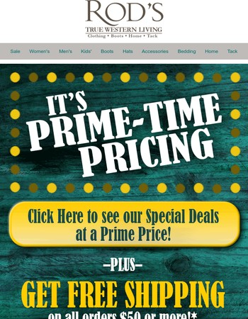 Special Deals at a Prime Price! 1 Day only!
