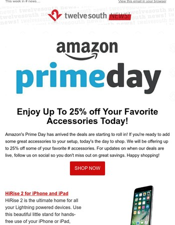 Up to 25% off Twelve South for Amazon Prime Day