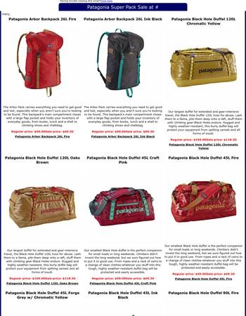 Patagonia Super Pack Sale at EverestGear.com