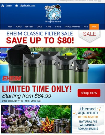 Eheim Classic Canister Filter Sale - Limited Time Only!