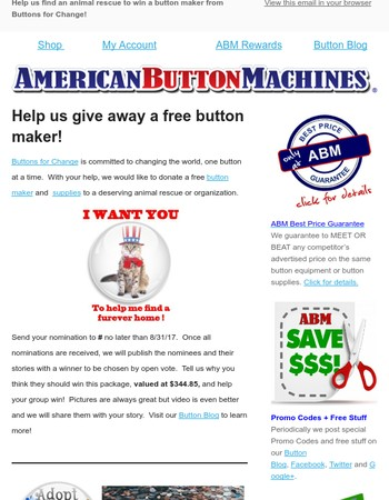 Help us give away a free button maker!