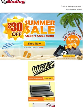 $30 off Summer Sale!