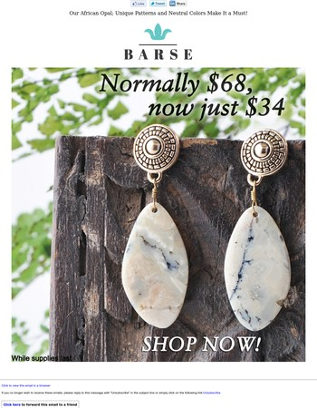 Our African Opal; Unique Patterns and Neutral Colors Make It a Must!