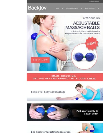 New Product: Adjustable Massage Balls - Email Exclusive Offer!