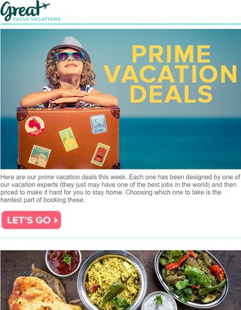 Prime Vacation Deals starting at $581