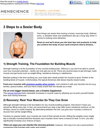 3 Steps to a Sexier Body