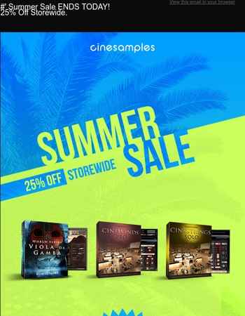 Summer Sale Ends TODAY!