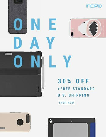 It's a prime time to save | 30% off your order - today only!