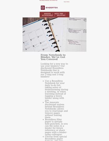 Boundless Notebooks + Binders