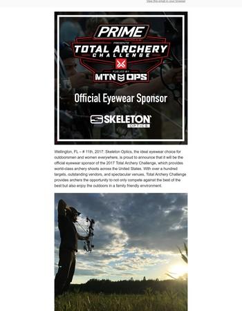Skeleton Optics official eyewear sponsor of the 2017Total Archery Challenge