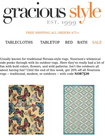 Nourison Outdoor Rugs Sale - 20% Off This Week Only!