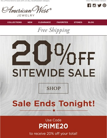 This Summer Sitewide sale is going off into the sunset