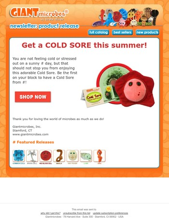 Get a COLD SORE this summer!