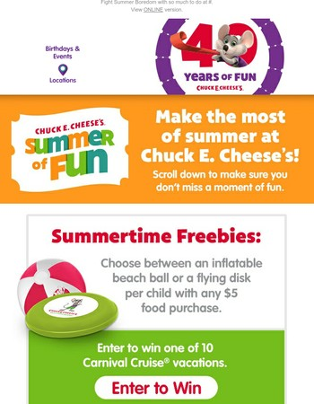 NEW Summertime Freebies, Food and More for your Family!