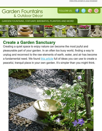 Make your garden a sanctuary...here's how