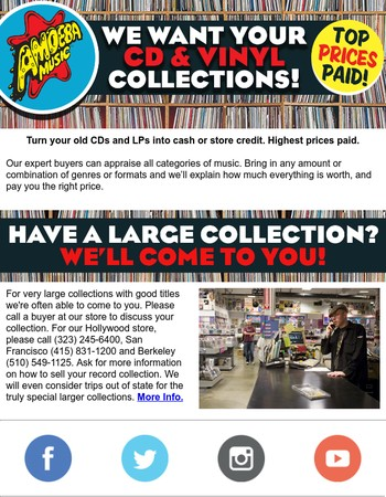 We Want Your CDs and LPs