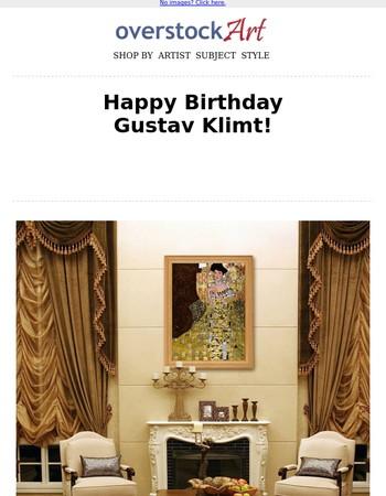 You're Invited to Klimt's 155th Birthday Celebration