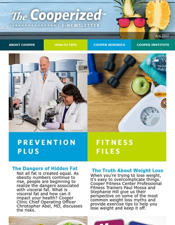 The Cooperized E-Newsletter from Cooper Aerobics