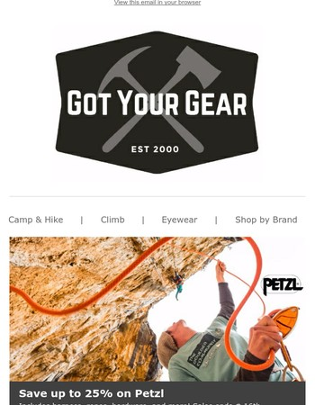 Save up to 25% on Petzl