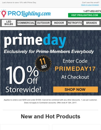 Prime Day Savings Ends in 4 Hours